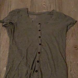 Grey button up tshirt